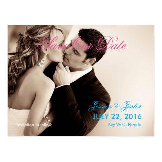Cartão Postal Sepia/economias do casamento do beijo do casal a