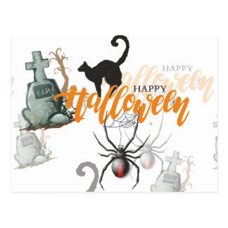 Cartão Postal Sepultura da aranha do Dia das Bruxas