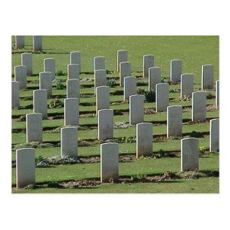 Cartão Postal Sepulturas da guerra no Somme