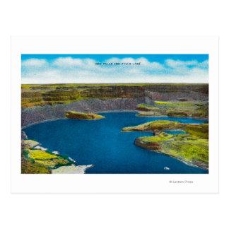 Cartão Postal Seque quedas e caia lago, represa grande de Coulee