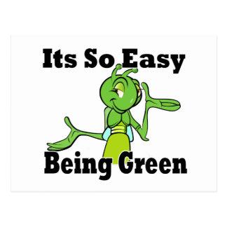 Cartão Postal Ser fácil verde