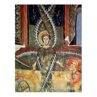 Cartão Postal Seraphim que purifying os lábios de Isaiah