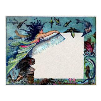 Cartão Postal Sereia
