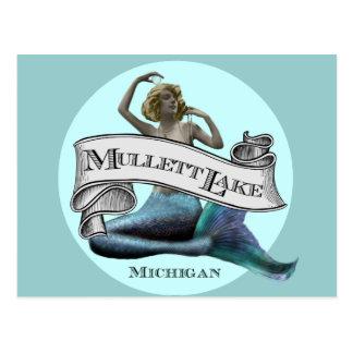 Cartão Postal Sereia do lago Mullett