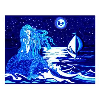 Cartão Postal Sereia e marinheiro