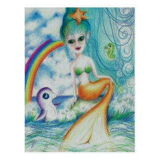 Cartão Postal Sereia mystical mágica