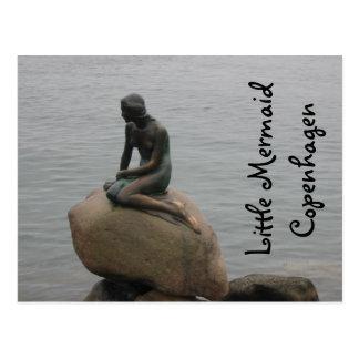 Cartão Postal Sereia pequena Copenhaga