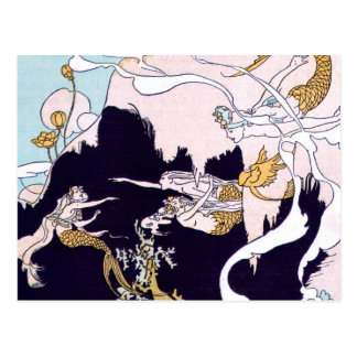 Cartão Postal Sereias do art deco