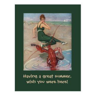 Cartão Postal Serenade da lagosta