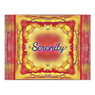 Cartão Postal Serenidade quadro inspirada do amarelo vibrante do