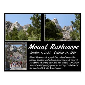 Cartão Postal Série #1 do Monte Rushmore