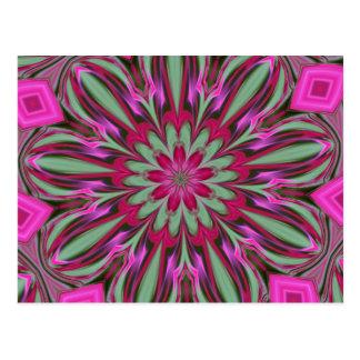 Cartão Postal Série cor-de-rosa do caleidoscópio do Phlox