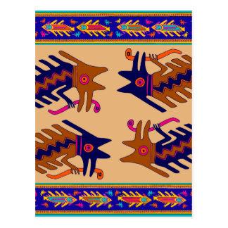 Cartão Postal Serpente tribal do Inca