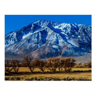Cartão Postal Serra oriental queda de Nevada - Bishop -
