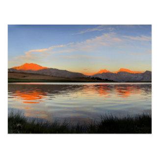 Cartão Postal Serra por do sol da crista - fuga de John Muir