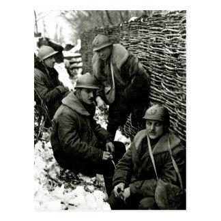 Cartão Postal Serviço de campo americano de WWI
