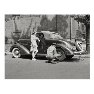 Cartão Postal Serviço de reparação de automóveis, 1942