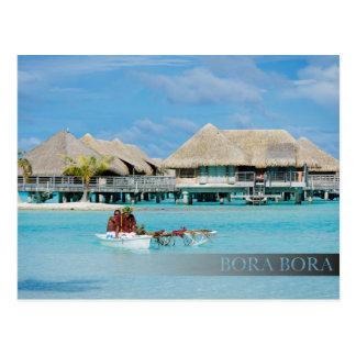 Cartão Postal Serviço do pequeno almoço do estilo de Bora Bora