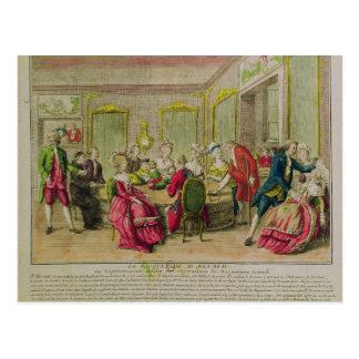 Cartão Postal Sessão do Hypnotism com Franz Anton Mesmer 1784