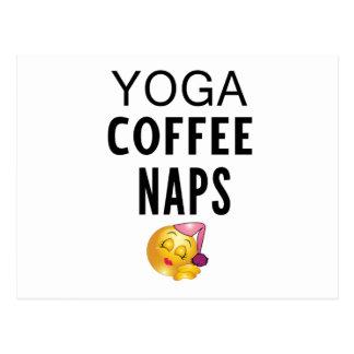 Cartão Postal Sestas do café da ioga