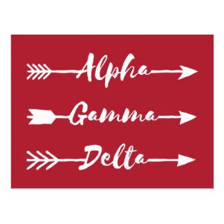 Cartão Postal Seta alfa do delta da gama