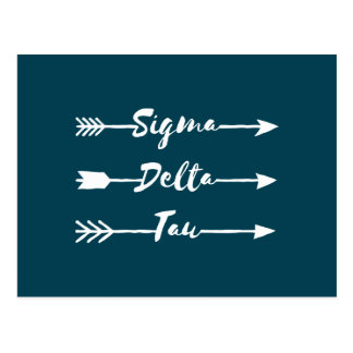 Cartão Postal Seta da tau | do delta do Sigma