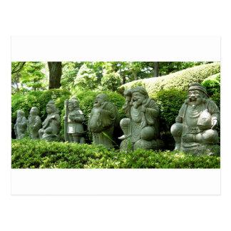 Cartão Postal Sete deuses afortunados de Japão