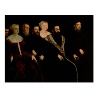 Cartão Postal Sete membros da família de Soranzo