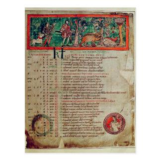 Cartão Postal Setembro: tendendo o varrão, de um calendário