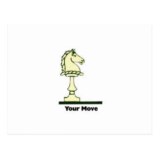 Cartão Postal Seu movimento - parte de xadrez do vintage
