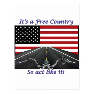 Cartão Postal Seu um ato do país livre assim gosta d