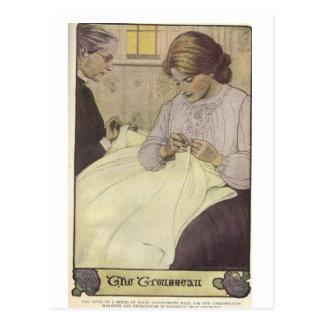 Cartão Postal sewing