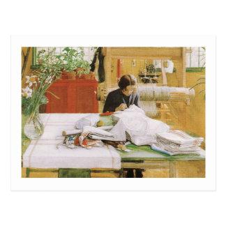 Cartão Postal Sewing de Karin