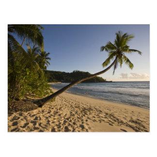 Cartão Postal Seychelles, ilha de Mahe, praia de Anse Takamaka,