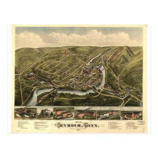Cartão Postal Seymour Connecticut em 1879