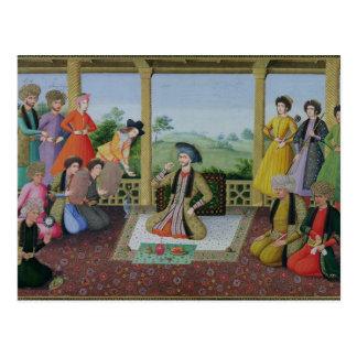 Cartão Postal Shah Suleyman II e seus cortesões