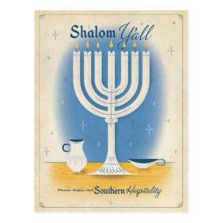 Cartão Postal Shalom você