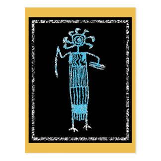 Cartão Postal Shaman no vestido cerimonial com máscara/mantilha