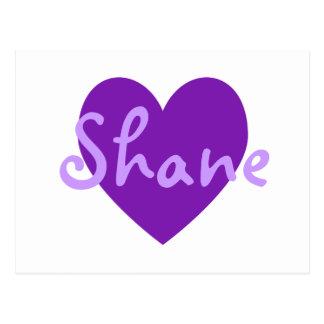 Cartão Postal Shane no roxo
