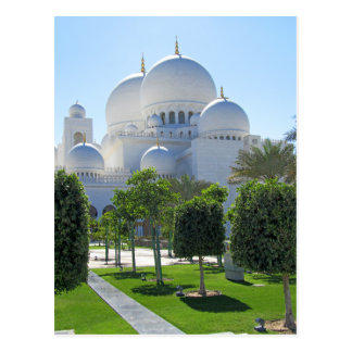 Cartão Postal Sheikh Zayed Grande Mesquita Abóbada