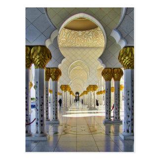 Cartão Postal Sheikh Zayed Grande Mesquita Corredor
