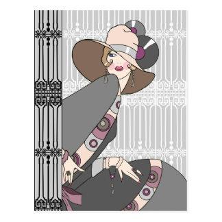 Cartão Postal Shelby, senhora dos anos 30 nas cinzas e aumentou
