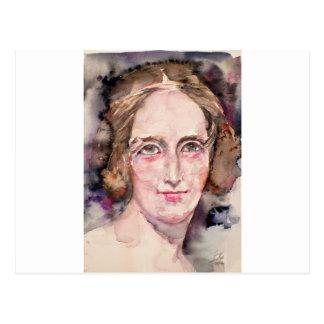 Cartão Postal shelley de mary - retrato da aguarela