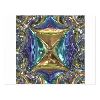 Cartão Postal Shimmer azul do ouro