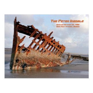 Cartão Postal Shipwreck de Peter Iredale, forte Stevens, cargo