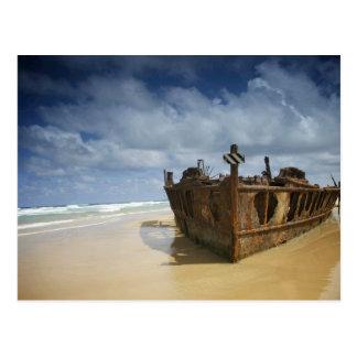 Cartão Postal Shipwreck de S.S. Maheno, ilha de Fraser,