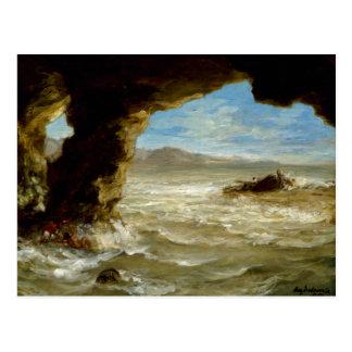 Cartão Postal Shipwreck na costa