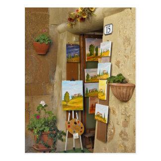 Cartão Postal Shope pequeno com trabalhos de arte para a venda