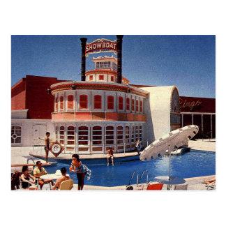 Cartão Postal Showboat de Las Vegas do vintage