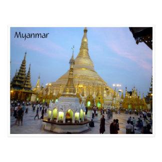 Cartão Postal shwedagon dourado